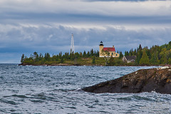 Copper Harbor Lighthouse (Winglet Photography) Tags: sunset dusk evening twilight beach lake lakesuperior michigan up upperpeninsula eagleharbor copperharbor greatlakes wingletphotography georgewidener stockphoto earth canon 7d georgerwidener nature upnorth scenic scenery puremichigan lighthouse light