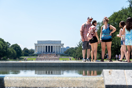 Tourists on the National Mall - Washington D.C.