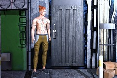 ♫ All I need is love All I need is a word All I need is us You turned nouns into verbs, to verbs ♪ (ThiegoFire) Tags: narcissus kuni blog style male ginger redhead sl secondlife guy boy man men outfit pant hairstyle door house street signature bento catwa head backdropcove