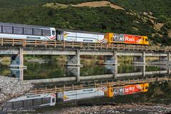 059 Oaro beach Coastal Pacific train (Awesome Image Maker NZ) Tags: 2019 cheviotlions4wd coastalpacific flickr oaro bridge diesellocomotive