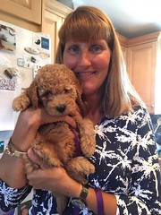 Lucy Jo's Koda with her new Mom!