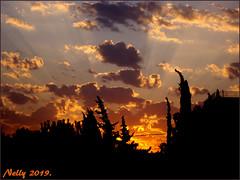 *Sunset... (MONKEY50) Tags: art digital sunset pentaxart sky clouds nature colors orange flickraward summer musictomyeyes skytheme psp contactgroups pentaxflickraward greenscene