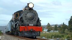 03 Ab663 27Sep03 near Stillwater (Awesome Image Maker NZ) Tags: 2003 ab663 flickr stillwater steamexcursion steamtrain