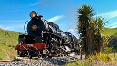 003 15Oct04 near Dashwood Pass Steam (Awesome Image Maker NZ) Tags: 2004 flickr jb1236 marlborough steamexcursion steamtrain