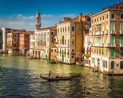 Venice (dwb838) Tags: rialtocanal architecture venice gondolier buildings canal urbanlandscape