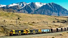 071 Coal Train Cass Bank (Awesome Image Maker NZ) Tags: 2005 cassbank coaltrain flickr diesellocomotive mountainscape steamexcursion