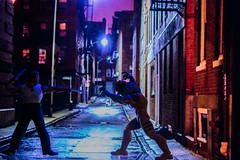 Dance of Death at Midnight (Stealknight) Tags: mezco wolverine xmen marvel logan sabertooth