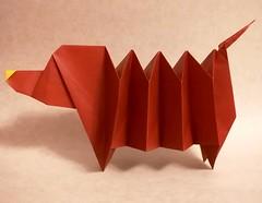 Dachsund (Yara Yagi) (Matt Origami) Tags: origami dachshund kami yarayagi