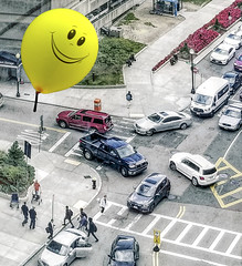Why Is This Balloon Smiling? (Rusty Russ) Tags: balloon traffic boston mgh street car people colorful day digital flickr country bright happy colour scenic america world sunset sky red nature blue white tree green art light sun cloud park landscape summer old new photoshop google bing yahoo stumbleupon getty national geographic creative composite manipulation hue pinterest blog twitter comons wiki pixel artistic topaz filter on1 sunshine image reddit tinder russ seidel facebook timber unique unusual fascinating