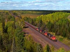 Changing Seasons (Missabe Road) Tags: cn 2041 ironrangesubdivision taconite ore c408 ge