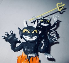 2019 Two Krampus Demon Devil Dudes 3280 (Brechtbug) Tags: 2019 krampus devil dude funko cuphead is run gun indie video game developed published by studio mdhr the player fights series bosses order repay debt demon figure christmas pop like toy toys vinyl figures spooky scary betty boop fleicher animation cartoon villain type march wooden soldiers cup head halloween