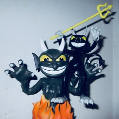 2019 Two Krampus Demon Devil Dudes 3279 (Brechtbug) Tags: 2019 krampus devil dude funko cuphead is run gun indie video game developed published by studio mdhr the player fights series bosses order repay debt demon figure christmas pop like toy toys vinyl figures spooky scary betty boop fleicher animation cartoon villain type march wooden soldiers cup head halloween