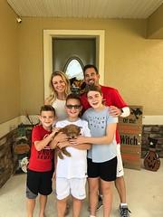 Noel's Milo with his new family!