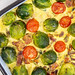 Baked Vegetables with Bacon and Brussel Sprouts