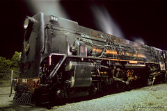099 Steam train at night (Awesome Image Maker NZ) Tags: canonslidebestof flickr ka942 slides springcreek steamexcursion steamtrain