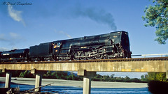 097 Steam train (Awesome Image Maker NZ) Tags: canonslidebestof flickr ka942 slides wairauriver bridge steamexcursion steamtrain