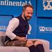 Gute Stimmung beim Gründer Festival Bits & Pretzels in München mit Dropbox-Chef Drew Houston