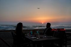 Couples at Sunset (Paul Saad) Tags: woman pretty beautiful nikon lebanon portrait bokeh girl people brunette model colors modeling couples sunset waves sea beach