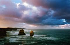 (ernestohemingwayo) Tags: canonef kodak portra 35mm film twelveapostles greatoceanroad dawn rain shower ocean sea victoria australia