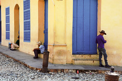Each On His Own (emerge13) Tags: architecture colonialarchitecture cuba trinidadsanctispirituscuba architecturaldetails humans candid cobblestonestreets trinidad street streets plazamayortrinidadcuba colorfulcities people cobblestone streetpeople elitegalleryaoi bestcapturesaoi aoi