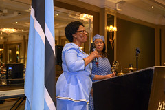 DSC_8454 Botswana 53rd Independence Day Celebration at The Hyatt Regency Churchill Hotel London The Wife of His Excellency Rev. Dr John N. G. Seakgosing Botswana High Commissioner to the UK (photographer695) Tags: botswana 53rd independence day celebration the hyatt regency churchill hotel london wife his excellency rev dr john n g seakgosing high commissioner uk