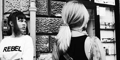 Maybe she is. (Baz 120) Tags: candid candidstreet candidportrait city contrast street streetphoto streetcandid streetportrait strangers rome roma ricohgrii europe women monochrome monotone mono noiretblanc bw blackandwhite urban life portrait people provoke italy italia girl grittystreetphotography faces decisivemoment