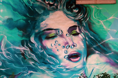girl (monkeyc.net) Tags: brisbane monday exploration westend grafitti street streetart walls signs murals eos m50 mirrorless stickers