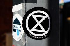 extinction rebellion (monkeyc.net) Tags: brisbane monday exploration westend grafitti street streetart walls signs murals eos m50 mirrorless stickers