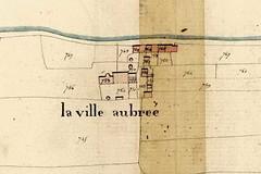 Plan cadastral du village de la Ville-Aubrée de 1819