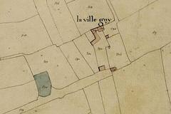 Plan du manoir de la Ville-Guy à Acigné d'après le cadastre de 1819