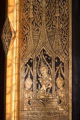 Gold and Black Lacquered Window, Wat Thepthidaram (imageofbangkok) Tags: bangkok buddhism buddhisttemple godandangel goldandblacklacquered thaiarchitecture thailand ubosot watthepthidaram