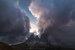 Light - #explore (iLaura_) Tags: sassolungo gruppodelsassolungo passosella tramonto cielo nuvole panorama paesaggio sunset sky clouds landscape