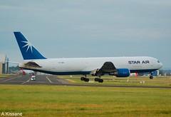 STAR AIR B767 OY-SRU (Adrian.Kissane) Tags: aviation ireland runway landing arriving airport sky outdoors freighter 767 boeing jet plane aeroplane aircraft 30107 182019 b767 oysru shannonairport shannon starair
