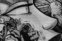 bw wall (monkeyc.net) Tags: brisbane monday exploration westend grafitti street streetart walls signs murals eos m50 mirrorless stickers