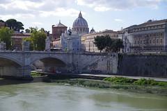Tiber, Rom (AWe63) Tags: tiber rom petersdom italien city stadt urban pentax fluss river pentaxk1mkii cawe63 andreasweyermann