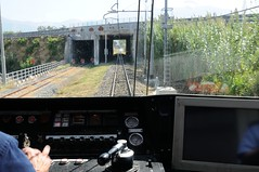 ERT-just-departing Pompei-Italy-21-9-2019 (D1021) Tags: ert emu metergauge pompei pompeistation italy italianrailway d300 nikond300