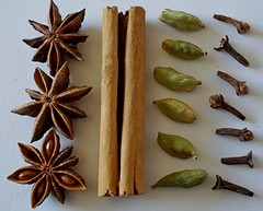 from the fragrance of the spice drawer - explored (quietpurplehaze07) Tags: knolling macromondays spicedrawer spice cloves cinammonstick staranise cardamom themacrogroup
