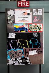 fire (monkeyc.net) Tags: brisbane monday exploration westend grafitti street streetart walls signs murals eos m50 mirrorless stickers