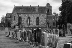"""Far from the madding crowd's ignoble strife."" Thomas Gray, 'Elegy Written in a Country Churchyard'. (louys:) Tags: prestonkirkparishchurch eastlothian church primelens building eastlinton graveyard fujixe3 xf35mmf14r"