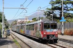 ERT-103-ETR-107-Pompei-Italy-21-9-2019 (D1021) Tags: ert103 ert107 emu metergauge pompei pompeistation italy italianrailway d300 nikond300