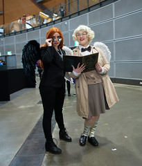 Aziraphale and his demon (Tranquil Night) Tags: goodomens crowley aziraphale angel demon agnusnutter comiccon comicconsydney ozcomiccon2019 ozcomicconsydney2019 sydney australia cosplay cosplayers
