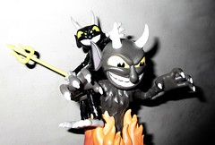 2019 Two Krampus Demon Devil Dudes 3338 (Brechtbug) Tags: 2019 krampus devil dude funko cuphead is run gun indie video game developed published by studio mdhr the player fights series bosses order repay debt demon figure christmas pop like toy toys vinyl figures spooky scary betty boop fleicher animation cartoon villain type march wooden soldiers cup head halloween