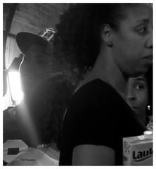 Fiestas. Hollidays. (Esetoscano) Tags: gente people fiesta holliday noche nocturno night cruz cross pendiente luzysombra lightandshadow fotodecalle streetshot fotourbana street photografie bwbnbynbnmonocromomonochrome fiestas de san miguel saint michael hollidays las rozas madrid españa spain