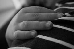Petites mains (clauLiv) Tags: mains enfants amour rayures doigts bébé noiretblanc