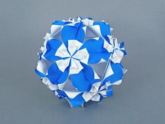 Orama var 2 (masha_losk) Tags: kusudama кусудама origamiwork origamiart foliage origami paper paperfolding modularorigami unitorigami модульноеоригами оригами бумага folded symmetry design handmade art