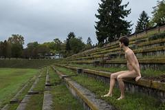 (Karsten Fatur) Tags: portrait model malemodel naked nude nudemodel gay gayart gaymodel man men lgbt lgbtq queer queerart abandoned abandonedplaces field stadium slovenija slovenia ljubljana colour green