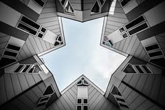 Cubes (s.W.s.) Tags: rotterdam nerherlands holland architecture architectural buildings abstract building kubuswoningen urban city sky windows cube houses nikon lightroom