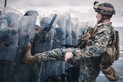 This is Sparta (United States Marine Corps Official Page) Tags: 11thmeu 11thmarineexpeditionaryunit imef boxerargmeu lawenforcement riotcontrol riotshields pacificocean