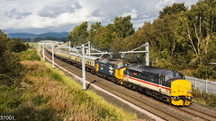 37419 & 37409 on 1Z64 at Cowie (37001) Tags: 37409 carlhaviland 37419 autumnhighlander 1z64 aviemore exeter carlisle drs directrailservices