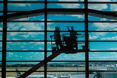 National Airport (Jordan Barab) Tags: nationalairport washingtondc dca windowwashers workers streetphotography street sonydscrx100markiii
